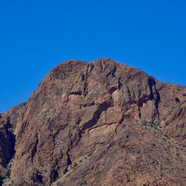"Via ""blaue Felsen"" zum Fort de Boujrif"